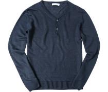 Pullover, Leinen, nachtblau