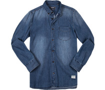 Hemd, Slim Fit, Jeans, jeansblau