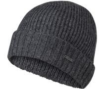 Mütze, Schurwolle, dunkelgrau