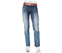 Jeans Pipe, Regular Slim Fit, Baumwoll-Stretch T400