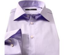 Hemd, Slim Fit, Baumwolle, lavendel