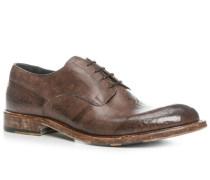 Schuhe Derby, Kalbleder genarbt