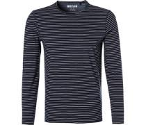 T-Shirt Longsleeve, Tailored Fit, Baumwolle