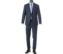 Anzug, Regular Fit, Schurwolle, navy
