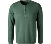 Pullover, Baumwolle-Leinen, seegrün