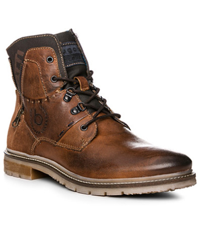 Bugatti Herren Schuhe Boots, Leder warmgefüttert