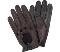 Autofahrer-Handschuhe Herren, Hirschleder