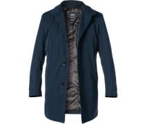 Mantel, Baumwolle-Mikrofaser, nachtblau