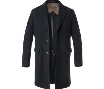 Mantel, Wolle ungefüttert, dunkelblau