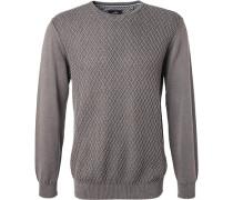 Pullover, Baumwolle, dunkelgrau