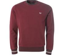 Pullover Sweater, Baumwolle, bordeaux