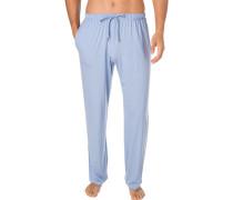 Schlafanzug Jogpants, Mikrofaser, bleu