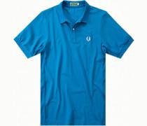 Polo-Shirt Polo, Mikrofaser, capriblau