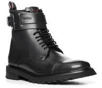 Schuhe Stiefeletten, Glattleder