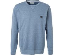 Sweatshirt, Baumwolle, hellblau meliert
