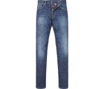 Jeans, Modern Fit, Baumwolle, indigo