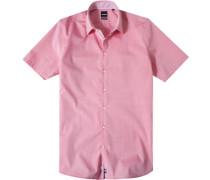 Sommerhemd, Slim Fit, Chambray, rosa