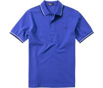 Polo-Shirt Polo, Baumwoll-Piquè, royalblau