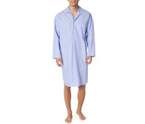 Nachthemd, Baumwolle, hellblau