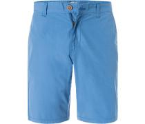 Hose Shorts, Baumwolle, himmelblau