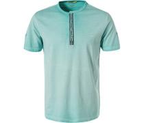 T-Shirt, Baumwolle, türkis