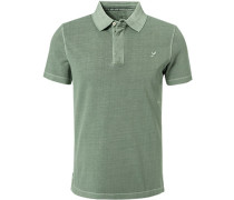 Polo-Shirt Polo, Baumwoll-Pique, schilfgrün
