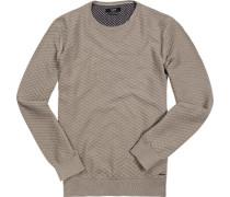 Pullover, Baumwolle, sand