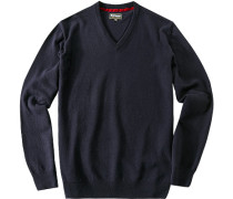 Pullover, Kaschmir-Wolle, dunkelblau