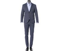 Anzug, Slim Fit, Baumwoll-Stretch