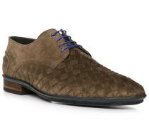 Schuhe Derby, Veloursleder, taupe
