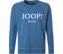 Sweatshirt, Baumwolle, azurblau