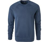 Pullover Sweater, Baumwolle, marineblau
