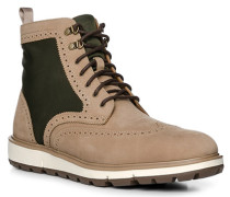 Schuhe Stiefeletten, Textil-Nubukleder wasserabweisend