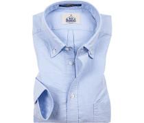 Oberhemd, Regular Fit, Oxford, bleu