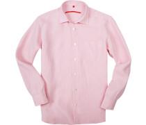 Hemd, Classic Fit, Leinen, rosa