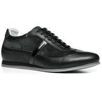 Schuhe Sneaker, Glatt-Veloursleder