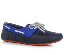 Schuhe Loafer, Mesh-Kautschuk, navy