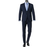 Anzug, Regular Fit, Schurwolle, mittelblau