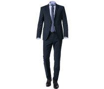 Anzug, Slim Fit, Schurwolle-Seide