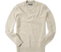 Pullover, Wolle, hellbeige meliert
