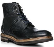 Schuhe Stiefeletten, Leder, nero
