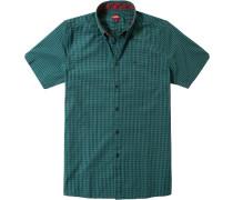 Hemd, Popeline, -blau kariert