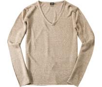 Pullover, Leinen-Seide, meliert