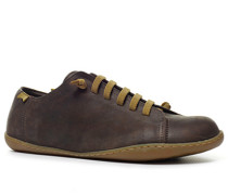 Schuhe Sneaker, Nubukleder, dunkelbraun