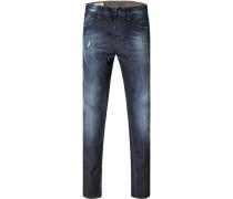 Jeans, Baumwoll-Stretch, dunkelblau