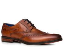 Schuhe Budapester, Leder, cognac