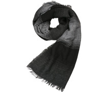 Schal, Wolle-Alpaka, schwarz- gestreift