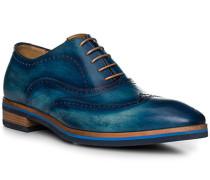 Schuhe Oxford, Leder, azzurro