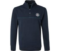 Pullover Troyer, Baumwolle, navy