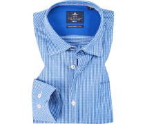 Hemd, Popeline, bleu gestreift